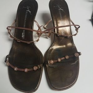 Giuseppe Zanotti rose gold sandals